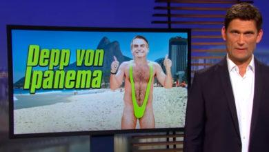"""Photo of Vídeo: Humorístico da TV estatal alemã chama Bolsonaro de """"boçal de Ipanema"""""""