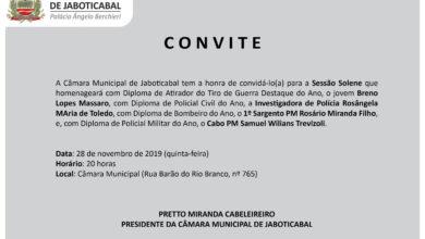 Photo of Câmara de Jaboticabal homenageia os destaques do ano da PM, PC, Bombeiros e Tiro de Guerra