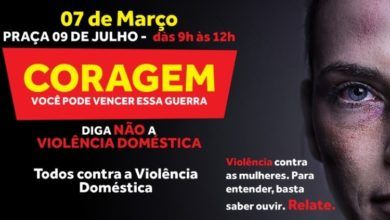 Photo of Evento contra a violência doméstica acontece no sábado (07)