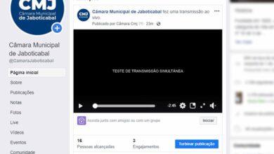 Photo of Sessões da Câmara de Jaboticabal passam a ser transmitidas ao vivo também pelo Facebook