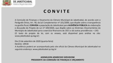 Photo of Câmara de Jaboticabal faz audiência pública da LDO na quarta-feira (23/09)