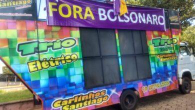 """Photo of Cerca de 100 veículos participaram da carreata """"FORA BOLSONARO"""" em Jaboticabal"""