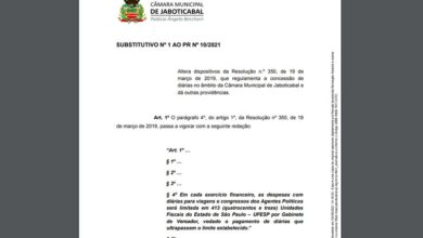 Photo of Mesa Diretora propõe projeto que diminui valor de diárias na Câmara Municipal de Jaboticabal